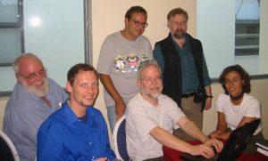 Fabian Ritter beim Workshop in Kapstadt mit Erich Hoyt, Erika Urquiola, Mark Simmonds, Alistair Birtles und José Palazzo.