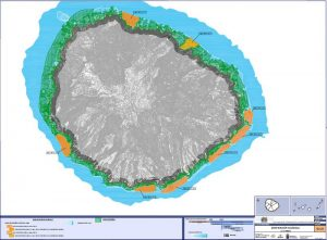 Mögliche Gebiete für Fischzuchten vor La Gomera (orange)