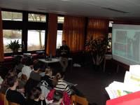In der Klasse 8c der St. Ursula Realschule in Würzburg